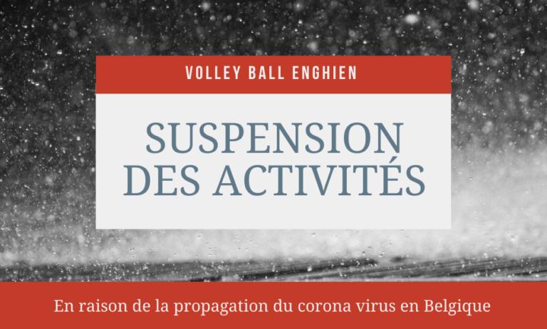 Suspension des activités de Volley Ball